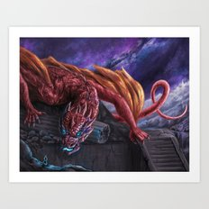 Red Wyvern Art Print
