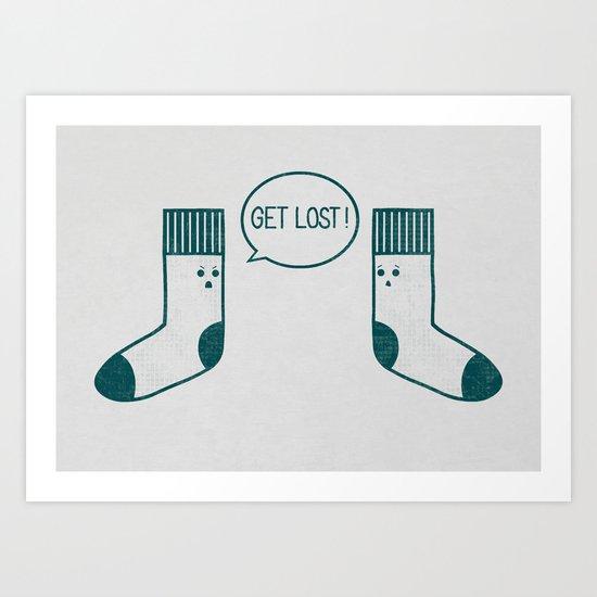Angry Sock Art Print
