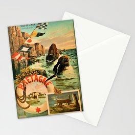 Bretagne Brittany Hugo d'Alesi 1895 French travel Stationery Cards