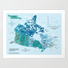 Map of Canada Art Print