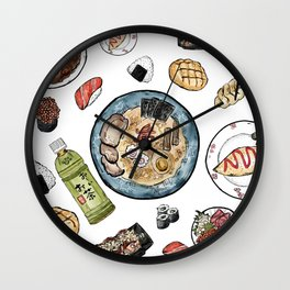 Favourite Japanese Foods Wall Clock