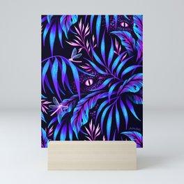 Jurassic Jungle - Blue Pink Mini Art Print