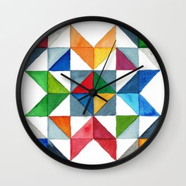 Barn Quilt Wall Clock