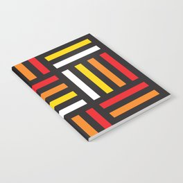 Geometric Pattern #166 (red yellow stripes) Notebook