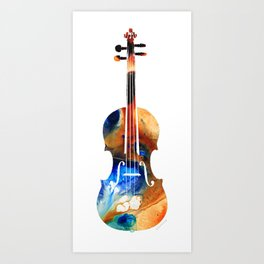 Violin Art By Sharon Cummings Art Print