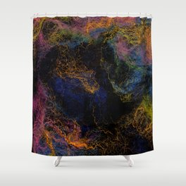 Abstract Nebula K3 Shower Curtain