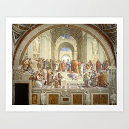 Raphael - The School of Athens Art Print