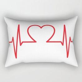 EKG Heart Rectangular Pillow