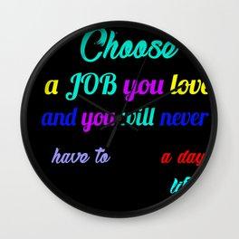 job lover quotation art Wall Clock