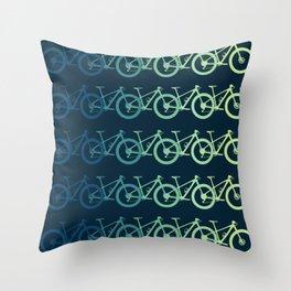 MTB Mountain Bike Cycling Downhill Throw Pillow