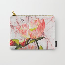 Flowering on pink marble Carry-All Pouch