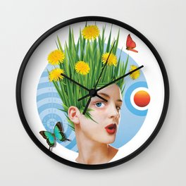 Summertime & the living is easy Wall Clock
