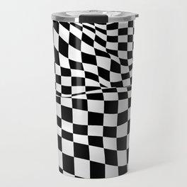 Wiggly Checker Board Travel Mug