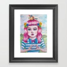 love song in my heart Framed Art Print
