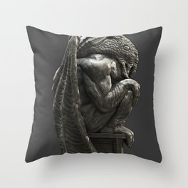 Cthulhu Statuette I Throw Pillow