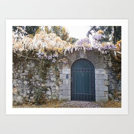 Italian garden wall Art Print