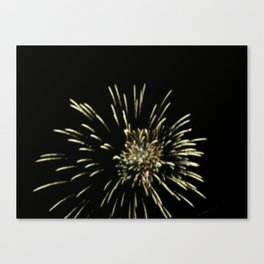 A Work of Fire Canvas Print