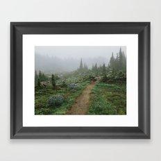 Washington Wildflower Fog Framed Art Print