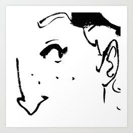 Ink eye Art Print