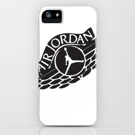 jumpman wings dirt iPhone Case