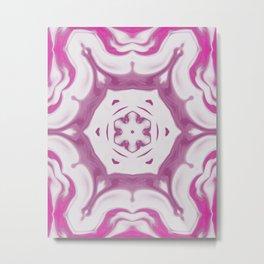 Amethyst & Hot Pink Gemstone Liquid White Smoke Kaleidoscope 2 Digital Painting Metal Print