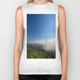 Above the clouds Biker Tank