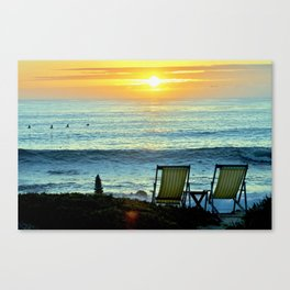 Modern Cambria CA Sunset Canvas Print