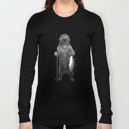 Harpoon Fishing Bear Long Sleeve T-shirt