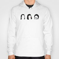 pulp fiction Hoodies featuring Pulp Fiction by Qc Illustrations