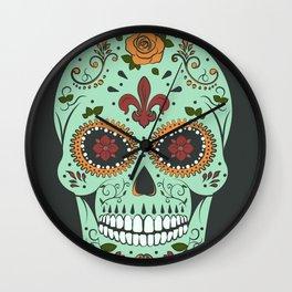 Colorful Skull I Wall Clock