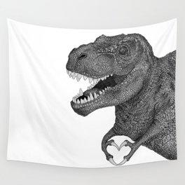 Dino Love Wall Tapestry