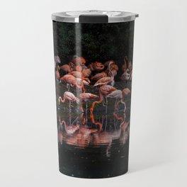 Flamingo reflections Travel Mug