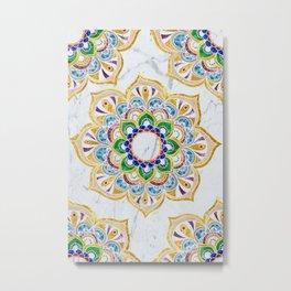 Mandala VII - Gold & gemstones Metal Print