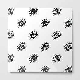 Graphic Eyes Pattern Metal Print