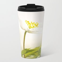 Wood Anemone Blooming in Forest Travel Mug