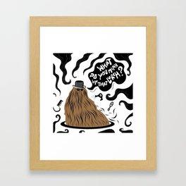 Cousin Itt (Addams Family) Framed Art Print