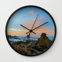 Tidepool Sunrise at Arch Rock Wall Clock