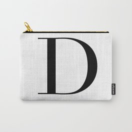 Letter D Carry-All Pouch