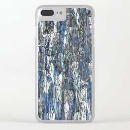 Abstract blue 2 Clear iPhone Case