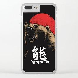 BEAR KANJI Clear iPhone Case