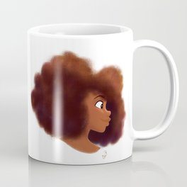 Afro Profile Coffee Mug