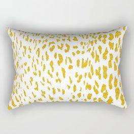 Gold Cheetah Animal Print I Rectangular Pillow