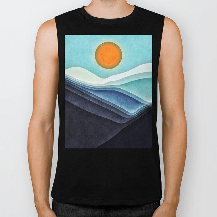 Sunshine Over Blue Mountains Biker Tank