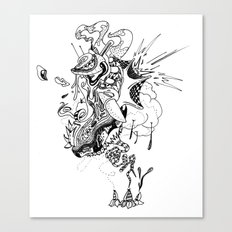 Ink Entanglement Canvas Print