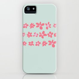 Daisy Chain in Petal Pink and Mint Green iPhone Case