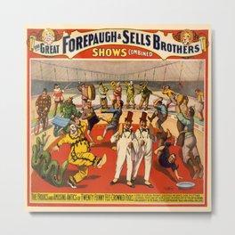 Vintage poster - Circus Advertisement Metal Print