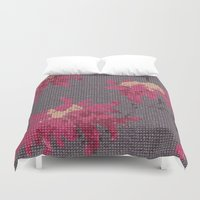 stitch Duvet Covers featuring *Cross Stitch* by Mr and Mrs Quirynen
