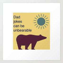 Yellow Bear Jokes Art Print