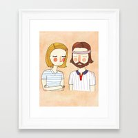 card Framed Art Prints featuring Secretly In Love by Nan Lawson