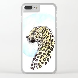 Glamour Leopard Clear iPhone Case